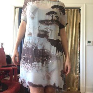 All Saints hand Embellished slip dress